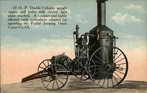 Vintage Advertising Postcard: Combine Engine & Boiler by C.W. Parker Leavenworth, Kansas ()