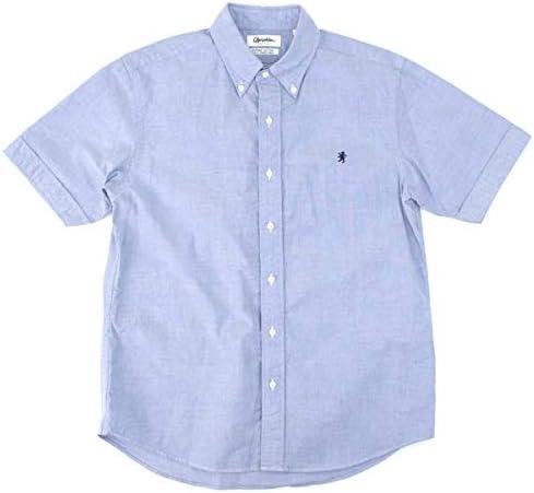 メンズ オックスフォード 半袖 ボタンダウンシャツ[J-1421YOX]