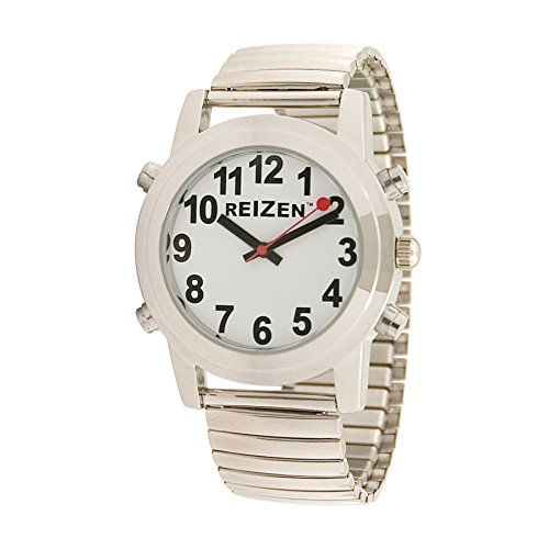 Reizen Talking Watch - White Face - Expansion Band - English by Reizen