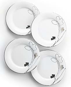 Charter Club Home Set of 4 Grand Buffet Platinum Silhouette Appetizer Plates