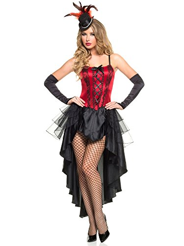 Mystery House Women's Burlesque Beauty, Red/Black, Small