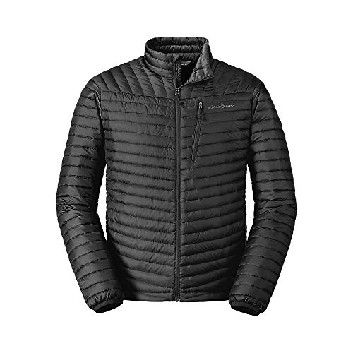 Eddie Bauer Men's MicroTherm 2.0 StormDown Jacket, Black Regular M