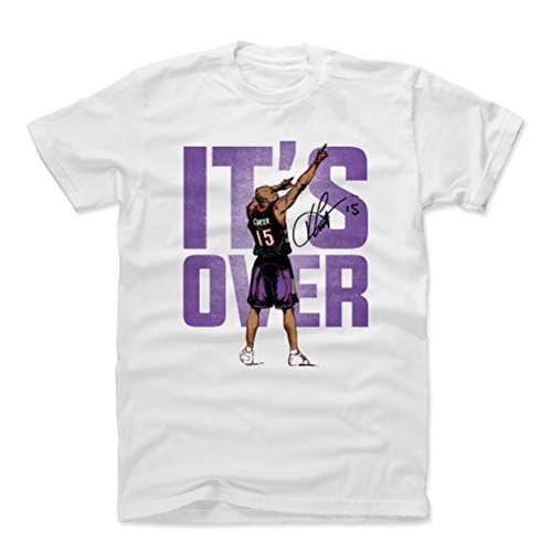 Carter Basketball Vince (500 LEVEL Vince Carter Cotton Shirt XX-Large White - Vintage Toronto Basketball Men's Apparel - Vince Carter Point P)