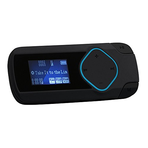 AGPtEK R2 8GB Clip MP3 Player Digital Music Player for Jogging Running Gym(Supports up to 64GB), Black