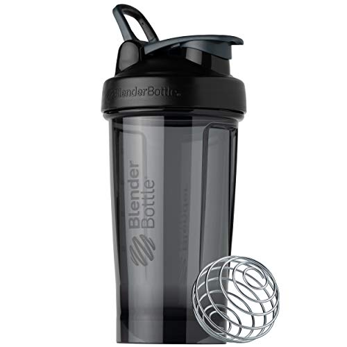 BlenderBottle Shaker Bottle Pro Series Perfect for Protein Shakes and Pre Workout, 24-Ounce, Black