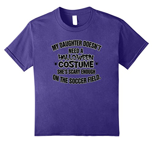 Kids Funny Halloween Parent of a Soccer Player T-Shirt 10 Purple