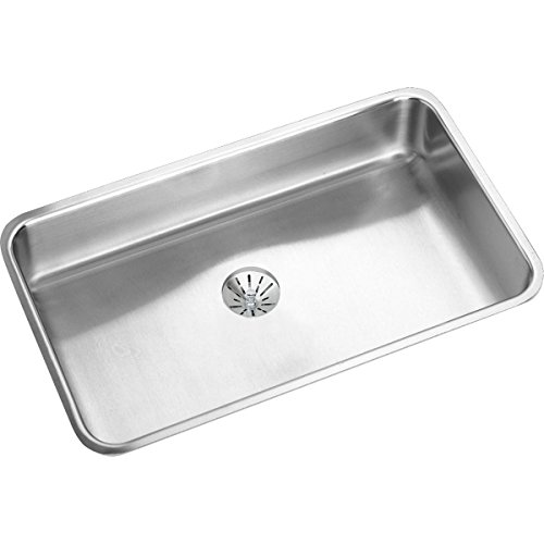 Elkay Lustertone Classic ELUHAD281655PD Single Bowl Undermount Stainless Steel ADA Sink with Perfect Drain
