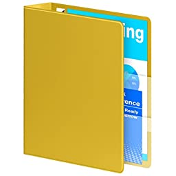 Wilson Jones Ultra Duty D-Ring Binder with Extra Durable Hinge, 2-Inch, Yellow (W876-44-129)