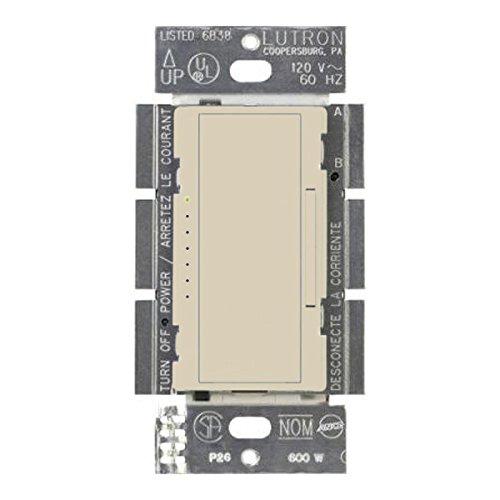 150W Max. Wireless 150W CFL/LED or 600W Incan/Halogen Dimmer - Tap & Rocker Switch - Ivory - 120V Lutron Maestro MRF2-6CL-IV