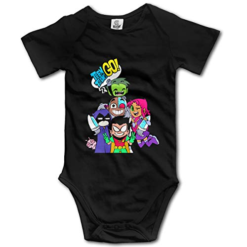 Teen Titans Go Comedy Adventure Unisex Baby Onesie Rompers Customized Climbing Clothes Black -