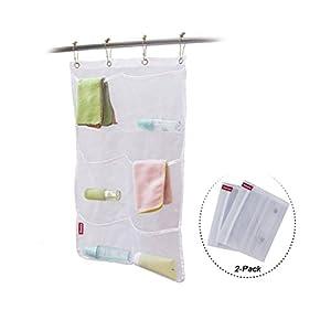 Honla 2 pack hanging mesh bath shower caddy for Bathroom accessories organizer