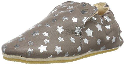 Easy Peasy Blublu Nuit - Zapatos de primeros pasos Bebé-Niños Marrón - Marron (593 Ecorce/Argent)