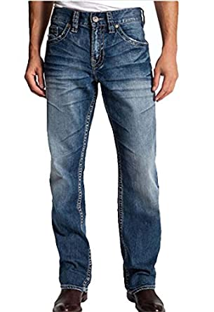 Silver Jeans Men Gordie Relaxed Fit Straight Leg Faux Flap in ...