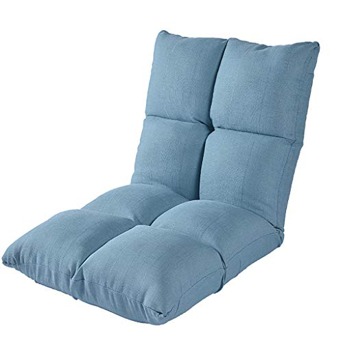 Blossoming Flowers Adjustable Folding Lazy Sofa Floor Chair,Gaming Chair,Floor Cushion,Multiangle Couch Beds for Midday Rest/Watching TV/Gaming/Nap ()