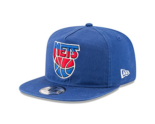 NBA New Jersey Nets Hardwood Classic Team Washed A-Frame Snapback Cap, One Size, Blue