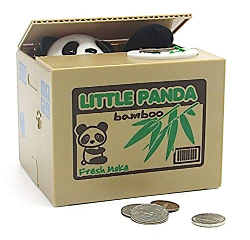 Dazzling Toys Christmas Piggy Bank Battery Operated Kids Panda Stealing Money Saving Bank Box, Great Holiday Idea for Boys and Girls. ...