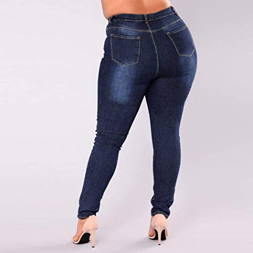 Cintura Con Ropa De Bolsillos Otoño Para Pantalones Vaqueros Pantalón Adelina Alta Y Cremallera Elástica Blau Mujer Acogedores xEvC5q