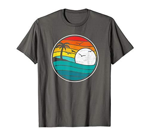Retro Eighties Beach & Surf Graphic T-Shirt ()