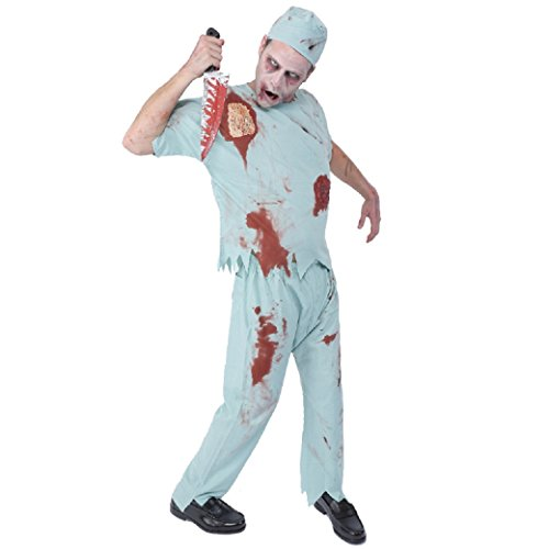 Zombie Collection - Zombie Surgeon Costume - Adult Small/Medium Size -