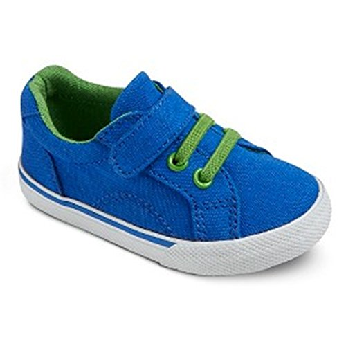 OshKosh Genuine Kids ALEC Toddler Boys Royal Blue Canvas Slip On Sneakers Shoes