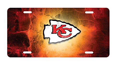 panda KC Chiefs Aluminum Novelty License Plate license frame custom Metal License Plate for Car Novelty license plate 12 inch X 6 inch