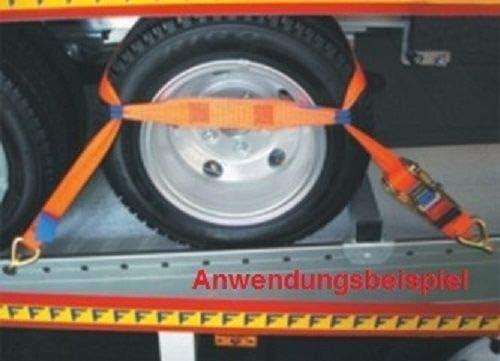 4 Stück Spanngurt Zurrgurt Für Pkw Auto Transport Zur Radsicherung 5 Auto