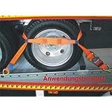 2 Tonnen Bruchlast 2,60 Mtr Gesamtlänge Trapez PKW Autotransportgurt 35mm