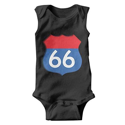 ZEUIAO Unisex Baby Sleeveless Onesies Route 66 Infant Baby Bodysuits