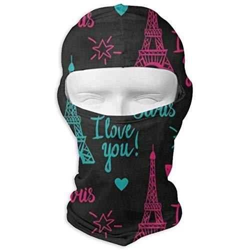 Balaclava Eiffel Tower Heart Star Full Face Masks Motorcycle Neck Hood Cycling