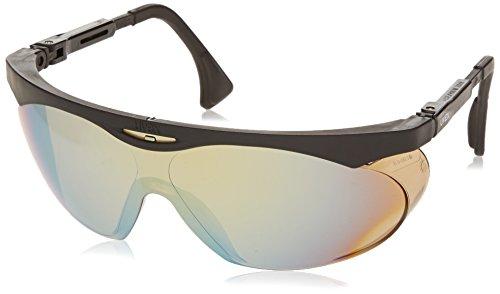 Uvex S1903 Skyper Safety Eyewear, Black Frame, Gold Mirror Ultra-Dura Hardcoat Lens