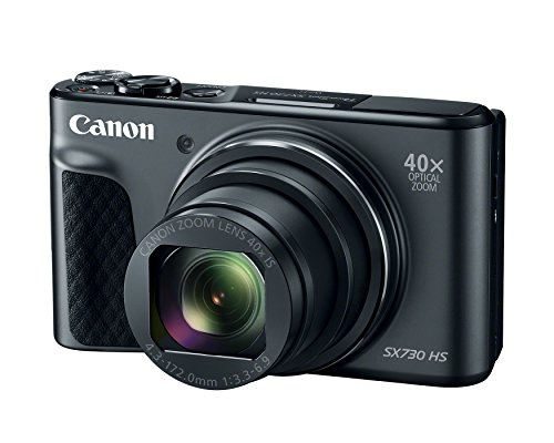 Canon PowerShot SX730 Digital Camera w/40x Optical Zoom & 3 Inch Tilt LCD – Wi-Fi, NFC, & Bluetooth Enabled (Black)