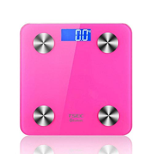 Smart Body Fat Scale,Bluetooth 4.0 Smart Weighing Scale Connected Scale Intelligent Digital Scales with Cloud Data Storage and Suggestions for Improvement (Pink) by Hongdayi