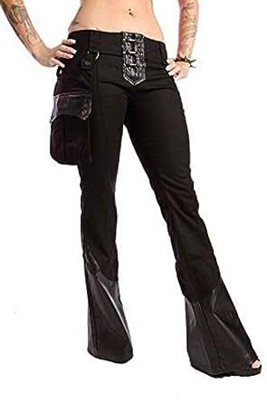 Lip Service Gothic Desert Exile Burning Man Wasteland Rocker Black Twill Jeans Pants (30)