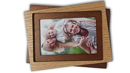 - Loui Michel Cie Tri-Tone Tabletop Wall MDF Veneer Picture Frame, 5 x 7-Inch Picture Opening