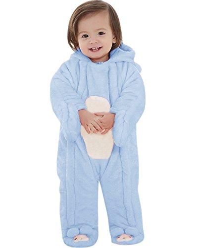 Kidsform Unisex Baby Romper Winter Thicken Coveralls Cartoon Hoodie Footies Bodysuit Snowsuit Onesie Outfit
