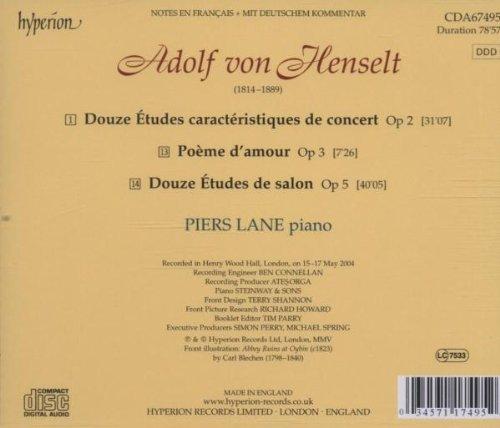 Henselt: Etudes Op. 2 & 5 / Poeme D'amour Op. 3 / Douze Études De Salon Op. 5