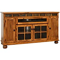 Sunny Designs Sedona 62 TV Stand in Rustic Oak