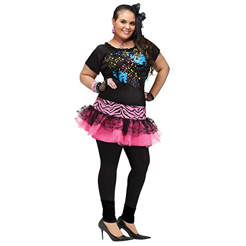 [80's Pop Party Plus Size Costume] (Plus Size Adult Halloween Costumes Ideas)