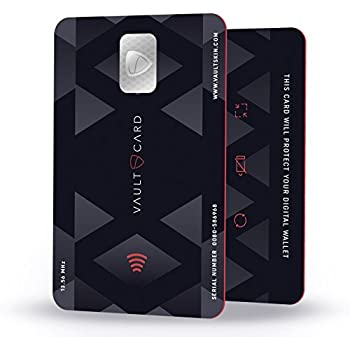 VAULTCARD - RFID Blocking & Jamming Credit & Debit Card Protection for your wallet and passport / NFC Jamming card, protects several cards at the same time