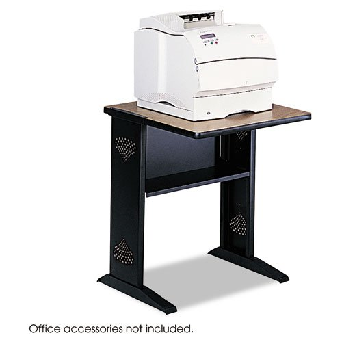 Safco Reversible Top Fax/Printer Stand - Steel - Black -