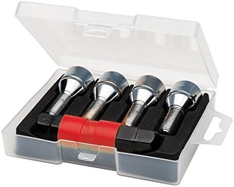 Butzi Chrome Anti Theft Locking Wheel Bolt Nuts /& 2 Keys to fit Audi A1 14x1.50 L28