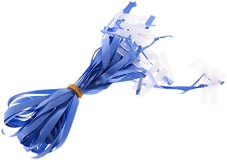 Colcolo リボン付き10xBalloon Hクリップタイネストパーティー用ヘリウムエアバルーン - 青