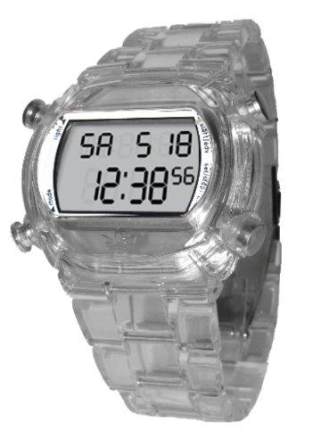adidas Originals adidas Originals - Reloj digital de cuarzo unisex con correa de caucho, color transparente: Amazon.es: Relojes