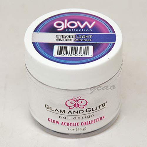 (Glam and Glits ACRYLIC Glow in the Dark Nail Powder - Strobe Light 2032)