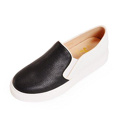 del Le zapato boca A zapatos Plano primavera Fu de y profunda suela cabeza gruesa zapatos tamaño otoño ocio de zapatos de Además 8TwtZ1w