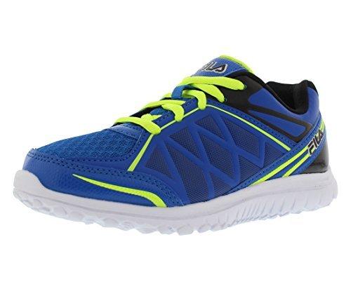 Fila Energystrike Boy's Running Shoes Size US 1.5, Regular Width, Color Blue/Black/Lime (Best Fila Running Shoes)