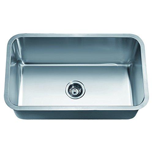 Dawn ASU106 Undermount Single Bowl Sink, Polished Satin -
