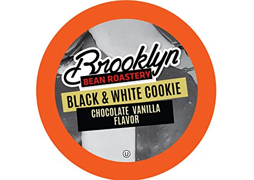 Brooklyn Beans Black and White Cookie Coffee Pods for Keurig K Cups Coffee Maker, 40 Count