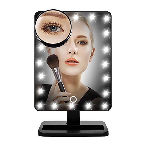 AUTOPDR Llighted makeup mirror/Vanity mirror with LED touch screen Dimming,Portable convenience and Detachable Magnifying nature light LED… by AUTOPDR