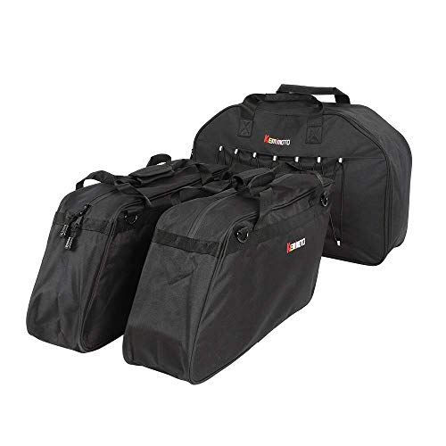 One Set Saddlebag Liner +Tour pack Tail Box Luggage for 1996-2013 Touring Road Kings Street Glide Models (Tour Trunk Liner)